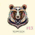3Pcs Iron-on Transfer Clothes Patches Cool 3D Animal Pattern Sticker for T-shirt