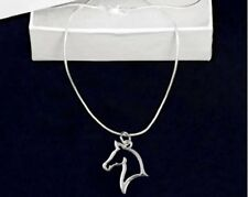 Sterling Silver-Plated Horse Head Pendant Necklace - SALE BENEFITS RESCUE