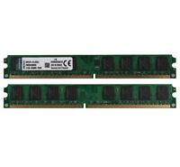 Kingston 4GB 2X 2GB PC2-6400U DDR2 800Mhz 240Pin Desktop Memory RAM Intel DIMM @