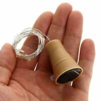 100cm Solar Wine Bottle Lights 10 LED Cork Shape Night Light Fairy String J4S6