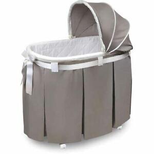 Badger Basket Wishes Oval Bassinet, Gray