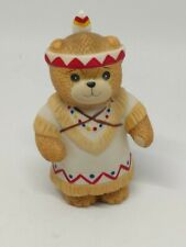 Vintage Lucy & Me Bear-Enesco-1984 Indian Girl With Papoose - L117