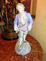 Antique French Old Paris Polychrome Bisque Figurine, C XIX.