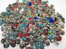 20pcs 12mm Snap Button Rhineston Ginger Snap Chunk Button Mixed Wholesale Lots