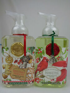 Holiday Treats Poinsettia Michael Design Works Lot of 2 Hand Soap 17.8 fl oz NEW