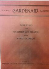 Gardenaid Tractor Operating, Maintenance, Parts, Implement Manual Garden Bready