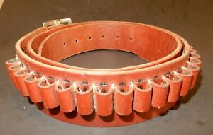 "Hunter Leather Ammo Cartridge  Belt - Like New 138LG 9542 Fits 41-46"""