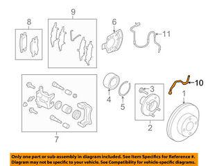 NISSAN OEM 12-18 Versa Front Brake-Flex Hose 462111HK0A
