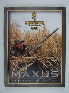 2009 Browning Maxus Catalog & DVD