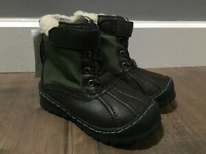 NWT Old Navy Baby Toddler Boy Brown Green Waterproof Duck Winter Boots