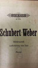Schubert/Weber: Military Dance: Afforderung Zum Tanz: Music Score (C2)