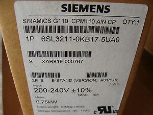 LOT OF 6  NEW SIEMENS 6SL3211-OKB17-5UAO Variable DRIVE  200-240V .75KW INVERTER