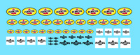 DECALS PENNZOIL DECALCOMANIE 1/32 1/24 1/10 1/8  decal motor oil gasoline car