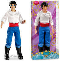 "NEW 2013 Disney Store The Little Mermaid Prince ERIC 12"" Classic doll Ariel"