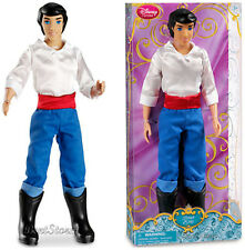 """NEW 2013 Disney Store The Little Mermaid Prince ERIC 12"""" Classic doll Ariel"""