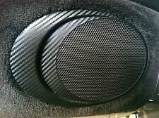 Carbon Fiber Finish Door Speaker Grill Cover : fits Porsche 996 and Boxster 986