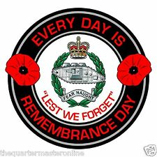 RTR Royal Tank Regiment Remembrance Day Inside Car Window Clear Cling Sticker