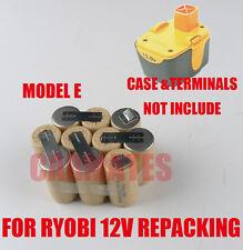 Battery RECELLING PACK For Ryobi 12V 2.0Ah Ni-Cd HP412K 130269003 BPH-1215