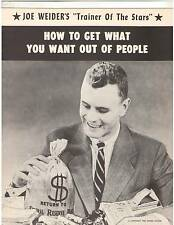 Joe Weider How To Get What You Want Out Of People 1959 RARE !