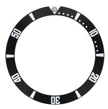 BEZEL INSERT FOR SEIKO 5 AUTOMATIC DIVER SNZF 15 WATCH BLACK PART