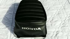 HONDA Z50A 1968-1971 REPLACEMENT SEAT COVER silver DYED LOGO. SPLIT SEAM (H144S)