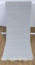 Lovely light french grey cream handmade cotton REVERSIBLE RUG / RUNNER 70x200 cm