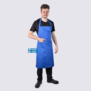 Full Chef Blue Bib Aprons with Pocket.,, See Handy Chef for Chef Jackets,Pants.,