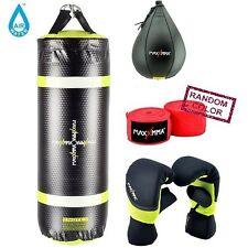 MaxxMMA Water/Air 3 ft. Heavy Bag + Neoprene Gloves + Speed Bag + HandWrap