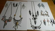6 Pairs of Earings 2 Necklaces and set of Necklace,Bracelet and earrings UNUSED