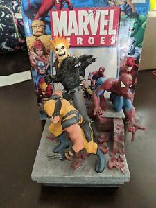 **MARVEL HEROES PAPERWEIGHT**(2007) STATUE SPIDER-MAN WOLVERINE GHOST RIDER
