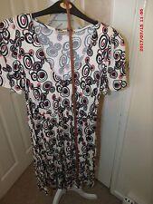 Barbara Hulanicki superior/vestido con estampado floral Talla 10