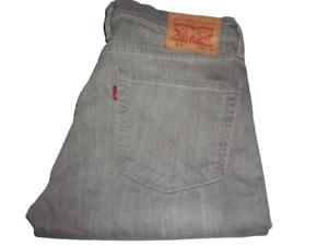 Hommes Levi's 511 Gris (0493) Slim Fit Jeans Extensible W36 L32