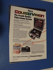 Vintage 1982 Colecovision video games & console print ad expansion module