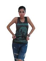 IGGY POP THE STOOGES Rock Women's T-Shirt Tank Top Vest Graphic Tee Dark Gray