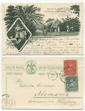 MEXICO EARLY USED PICTURE POSTCARD FROM 1897 - RANCHO DE CAFE