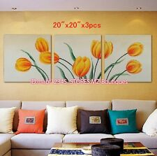 YH689B 3pc Hand painted Oil Canvas Wall Art home Decor abstract flowers NO Frame