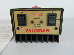 PALOMAR TX-100 mini MOBILE AMP Linear All Mode Class AB-1 RF Power Amplifier HAM