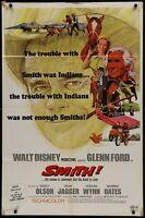 Disney SMITH! Glenn Ford Original 1969 1 ONE SHEET MOVIE POSTER 27 x 41
