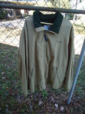 Men's LL Bean Tan Winter Jacket Zip Front Size: XL