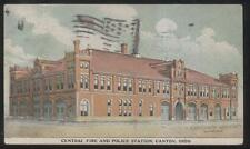 POSTCARD CANTON OH/OHIO FIRE DEPARTMENT & POLICE STATION BUILDING 1907