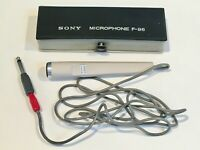Japan Excellent Condition. Vintage Sony F-96 Dynamic Microphone MTL /& Case