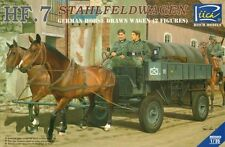 Riich Models 1/35 HF.7 Stahlfeldwagen German Horse Drawn Wagen 2 Figures # 35043