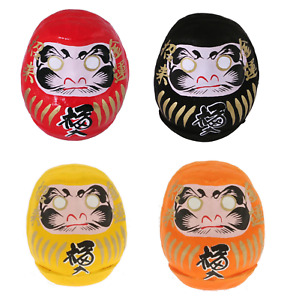 """SET of 4 Japanese 2.25""""H Daruma Doll for Rich Good Health Safety Made in Japan"""