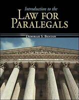 Introduction to the Law for Paralegals by Benton, Deborah S. (Hardback book, 200