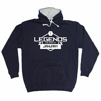 LEGENDS ARE BORN IN JANUARY HOODIE month joke hoody funny birthday gift 123t