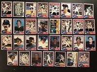 1981 Topps NEW YORK Yankees COMPLETE Team SET 31 Cards Reggie JACKSON Ron GUIDRY