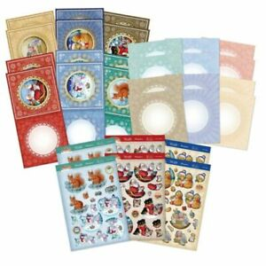 Hunkydory - Festive Friends Decoupage Card Kit - FRIENDS101 - rrp £14.99