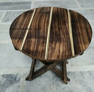 Small Folding Cake Table Outdoor Patio Balcony Coffee Garden Wood Table