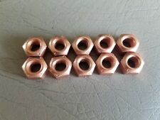 VW AUDI COPPER EXHAUST NUT M8 X 1.25 SET OF TEN CRIMPED LOCK NUT $12