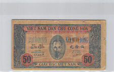 VIETNAM 50 DONG ND (1947) N° RB081044BX PICK 11C